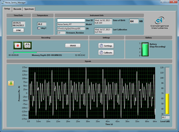 音の見張番RTパーソナル用ソフトウェア