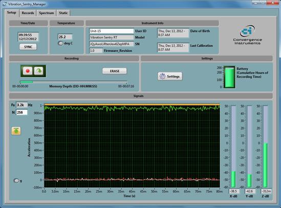 振動見張番用ソフトウェア