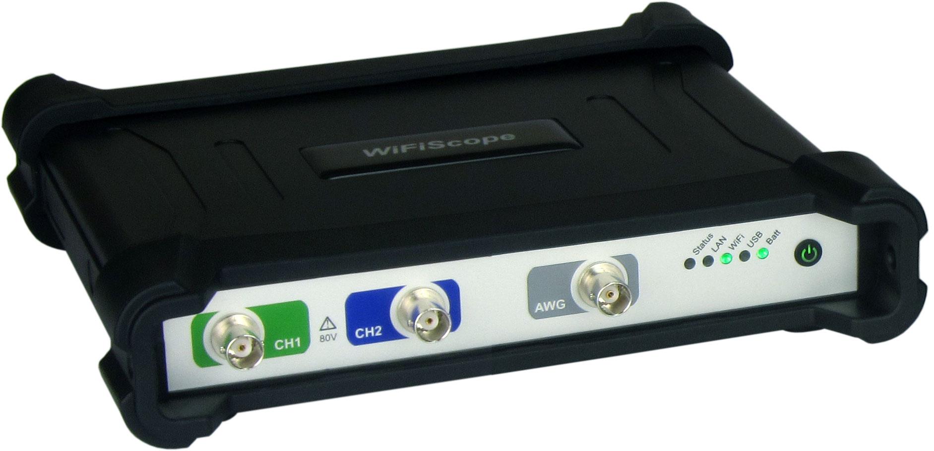 """WS5(Wifiスコープ)"" 無線2CHオシロスコープ+AWG"