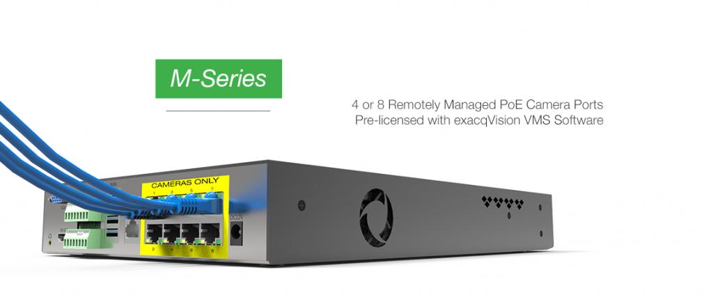 exacqVision Mシリーズ NVR PoEポート付き